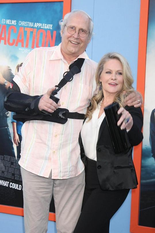 Na premiéře Bláznivé dovolené nechyběli Chevy Chase a Beverly D´Angelo.