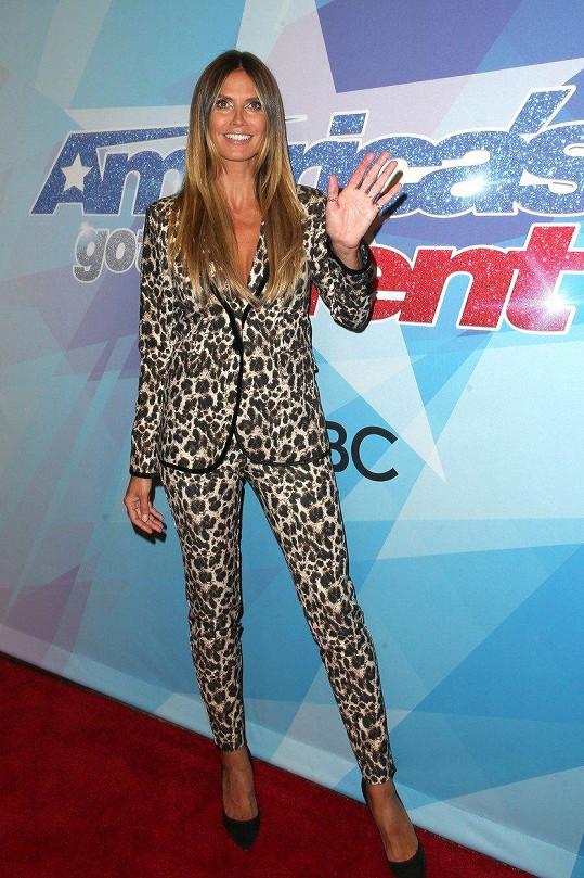 Heidi Klum jako porotkyně amerického Talentu