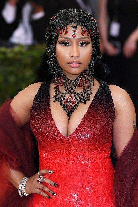 Nicki Minaj vypadala na Met Gala velmi hříšně.
