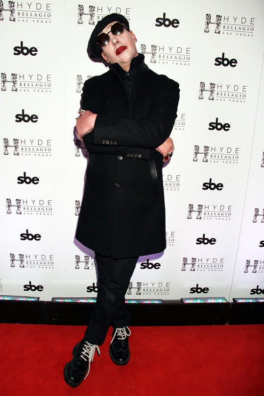 Marilyn Manson na Black Hearts Ball v Las Vegas