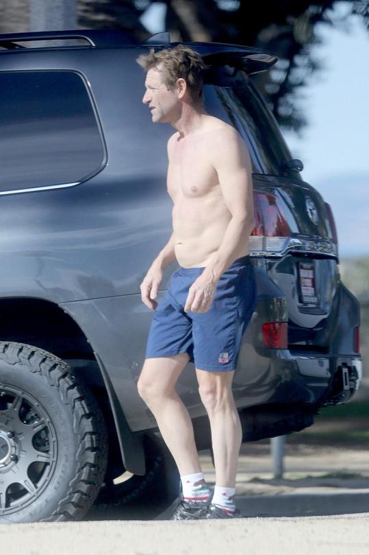 Aaron Eckhart po ranním běhu