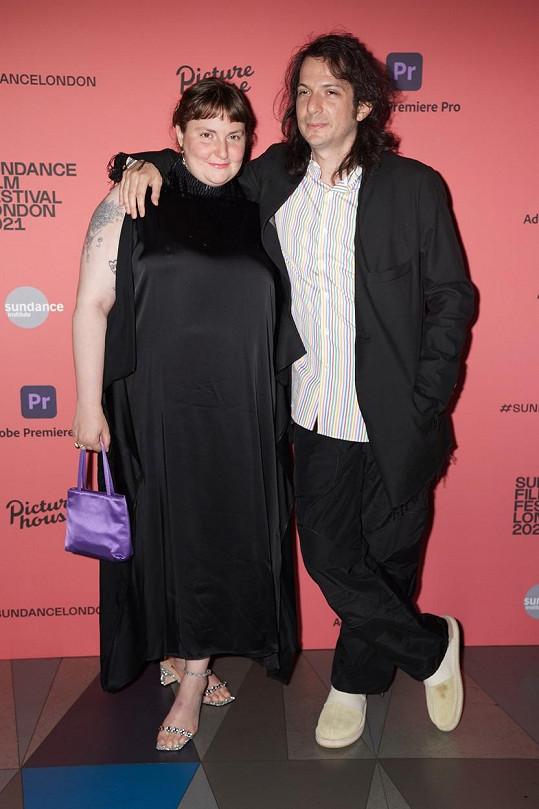 Lena Dunham a hudebník Luis Felber na filmovém festivalu v Londýně