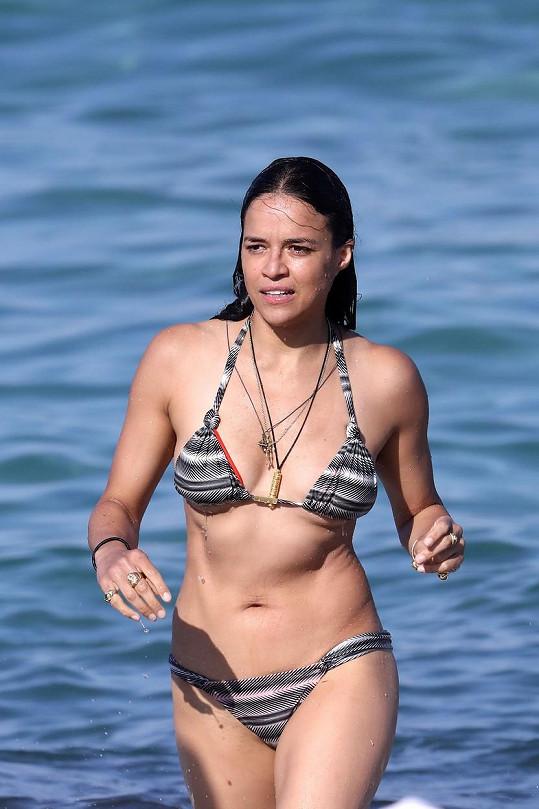 Michelle Rodriguez strávila několik dní v Saint Tropez.