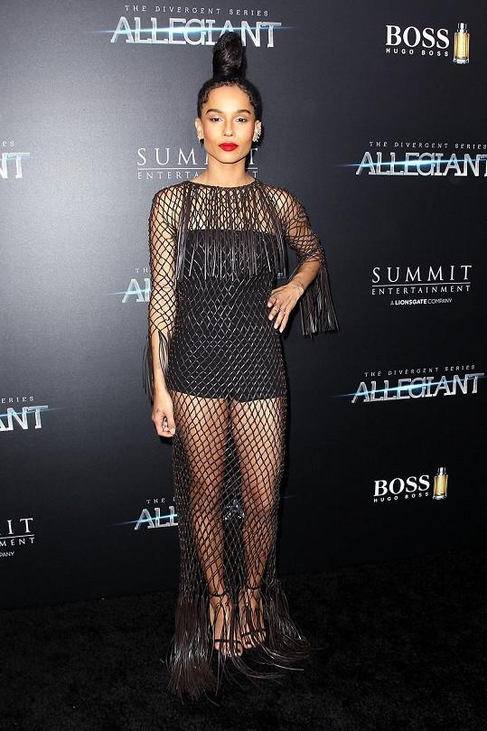 Herečka zvolila šaty Valentino.