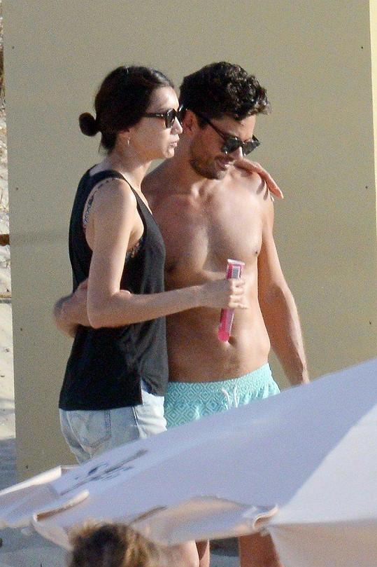 Společně strávili dovolenou ve Španělsku.