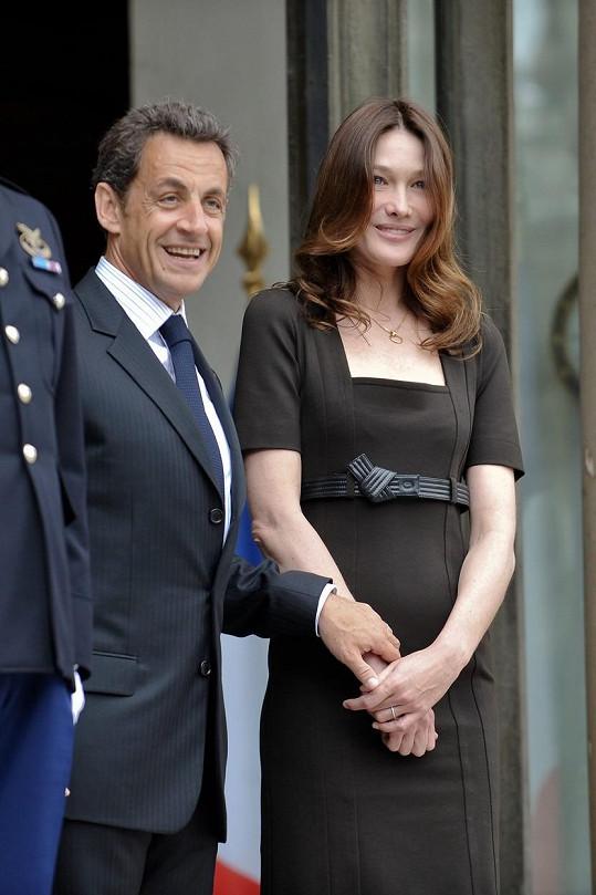 Carla a manželem Nicolasem Sarkozym
