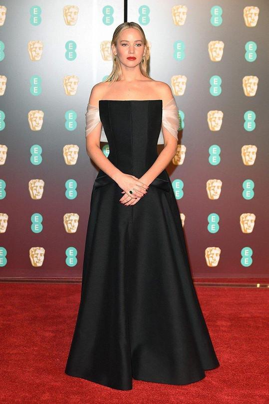 Na udílení cen BAFTA tak odvážná nebyla.
