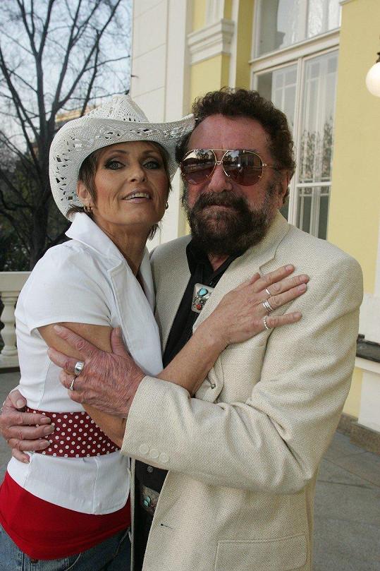 Olga Matušková se svým mužem v roce 2007
