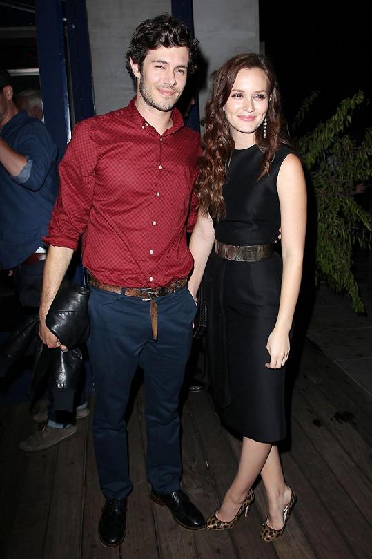 S manželem Adamem Brodym