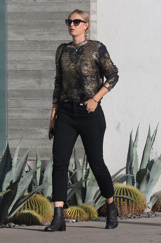 Maria Šarapovová v Kalifornii