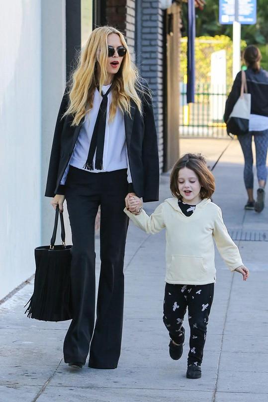 Slavná stylistka má dvě malé děti. Na snímku se starším synem Skylerem.