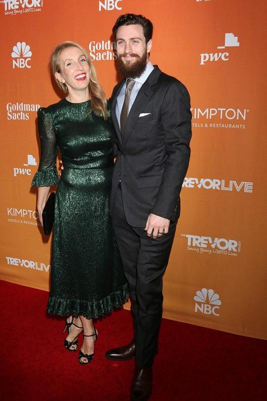 Sam Taylor-Johnson s manželem Aaronem