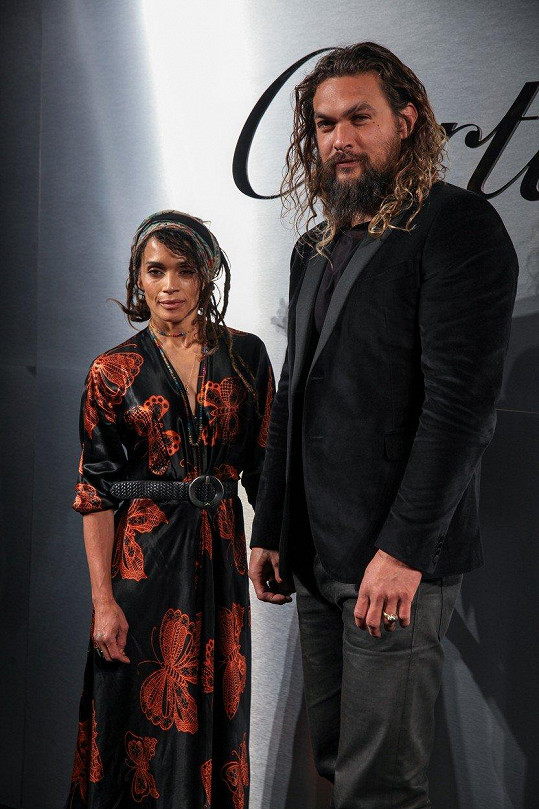 Lisa Bonet a Jason Momoa na party šperkařské značky Cartier