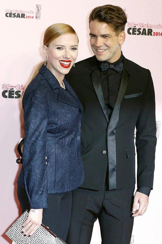 Scarlett Johansson s exmanželem Romainem Dauriacem