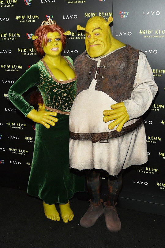 Heidi a Tom Kaulitz šli za Fionu a Shreka.