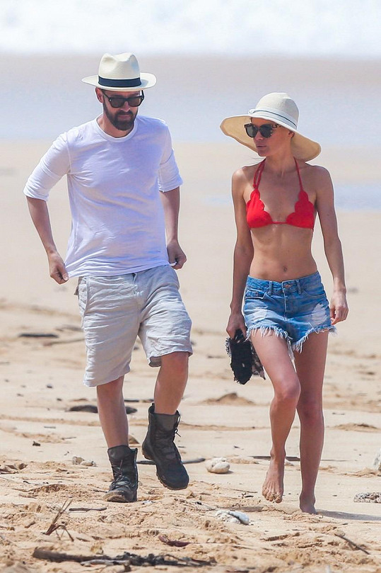 S manželem Michaelem Pilishem na ostrově Oahu