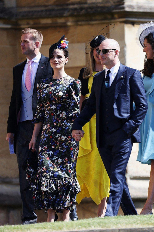 Tom Hardy s manželkou Charlotte Riley