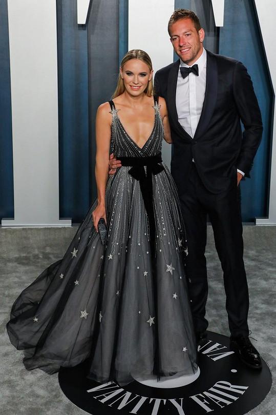 Caroline Wozniacki a David Lee
