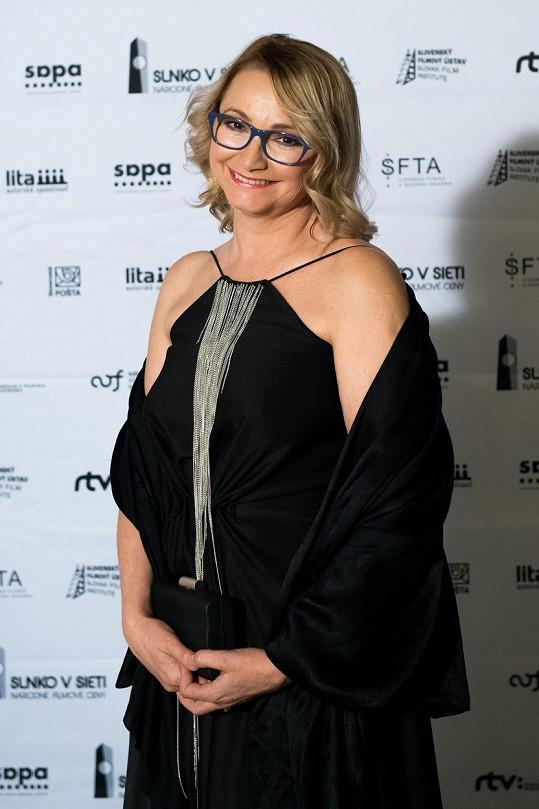 Anna Šišková na předávání slovenských filmových cen