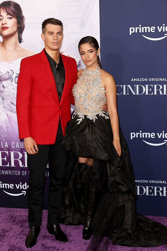 S hercem Nicholasem Galitzinem, který hrál jejího filmového prince.