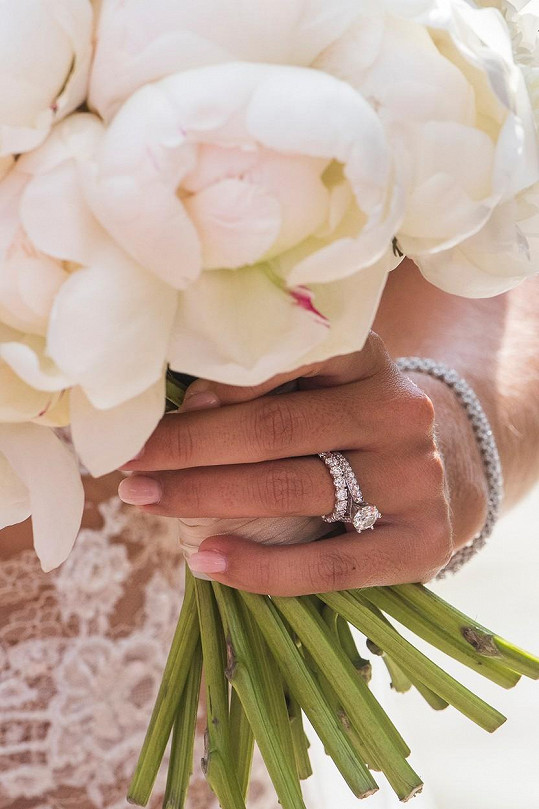 Cibulkovou zdobilo 333 briliantů. Nejvíce, celkem 225, jich bylo na elegantním náramku v ceně 810 900 korun. Diamanty jsou osázené i Dominičiny prsteny z 18karátového zlata. Zásnubní prsten s více jak 3karátovým diamantem stál 1,8 miliónu, snubní pak 270 tisíc.