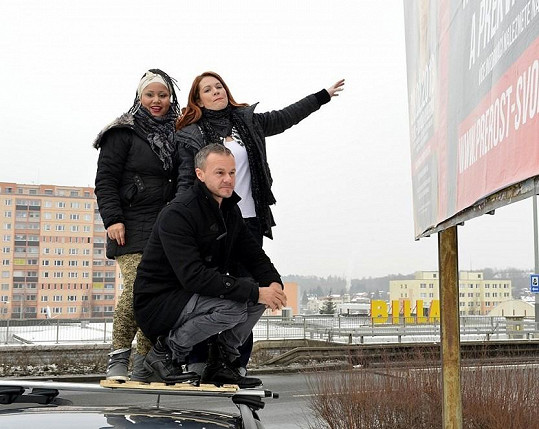 Nosková s Madalenou Joao a Braňo Polákem.