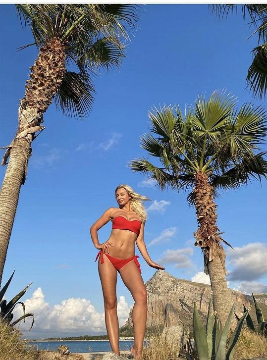 Bára Mottlová odletěla na dovolenou na Sicílii.