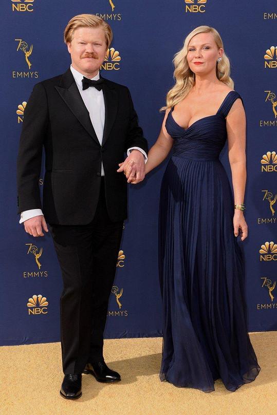 Kirsten Dunst s partnerem Jessem Plemonsem