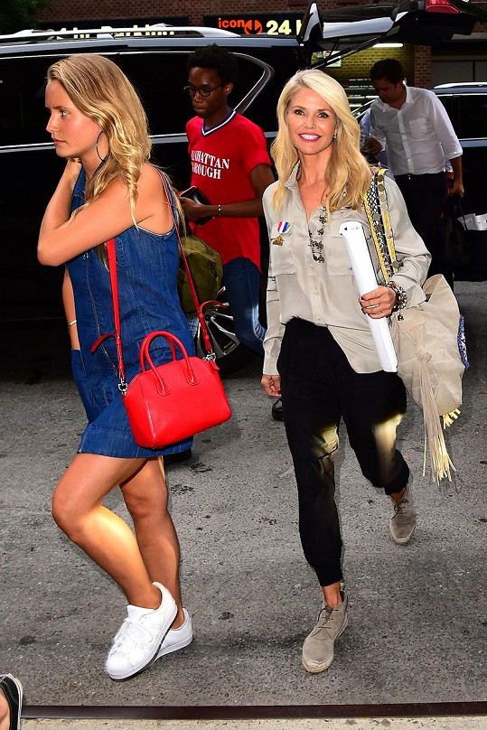Christie s dcerou Sailor koncem července