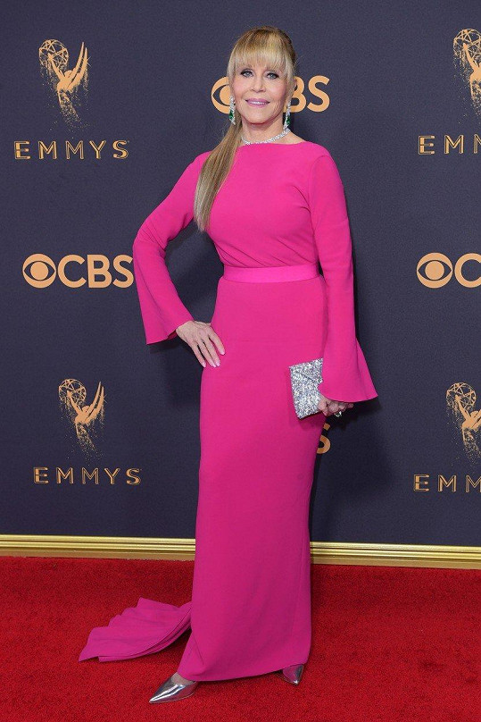Jane Fonda na letošním udílení cen Emmy