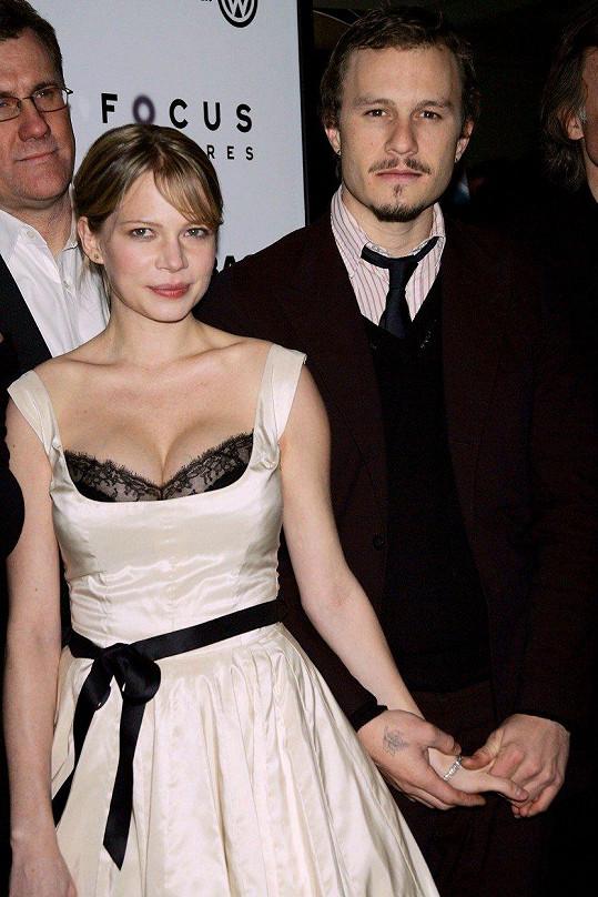 Michelle Williams s Heathem Ledgerem v roce 2005