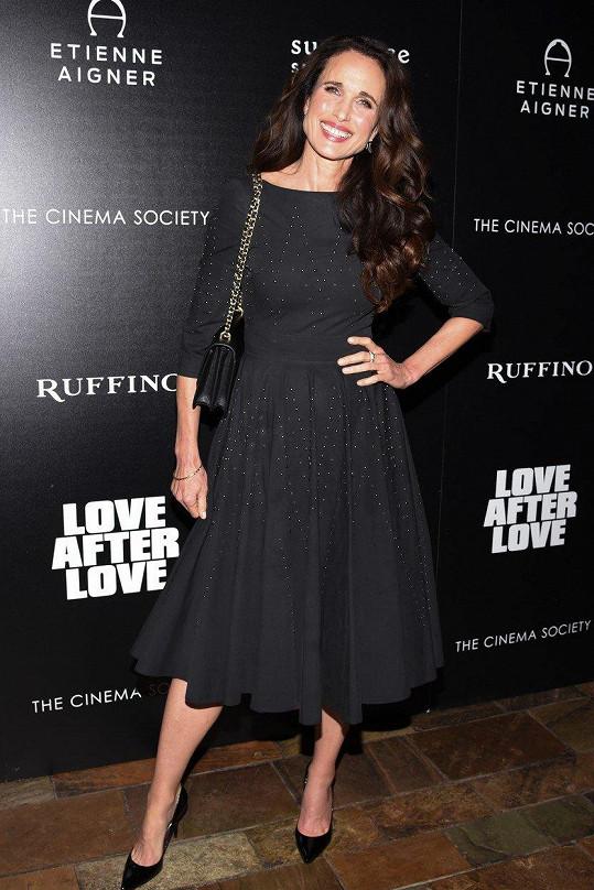 Herečka v New Yorku na akci ke svému filmu Love After Love