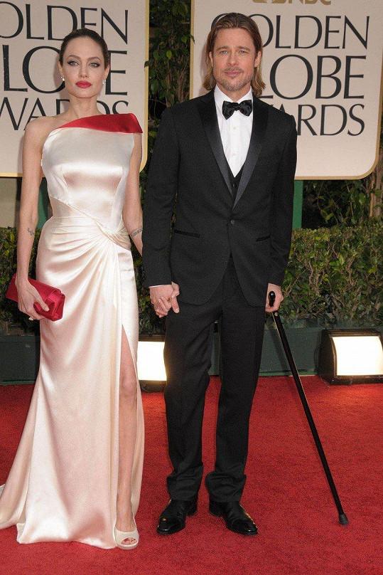 V roce 2012 Brad a Angelina ještě tvořili spokojený pár.