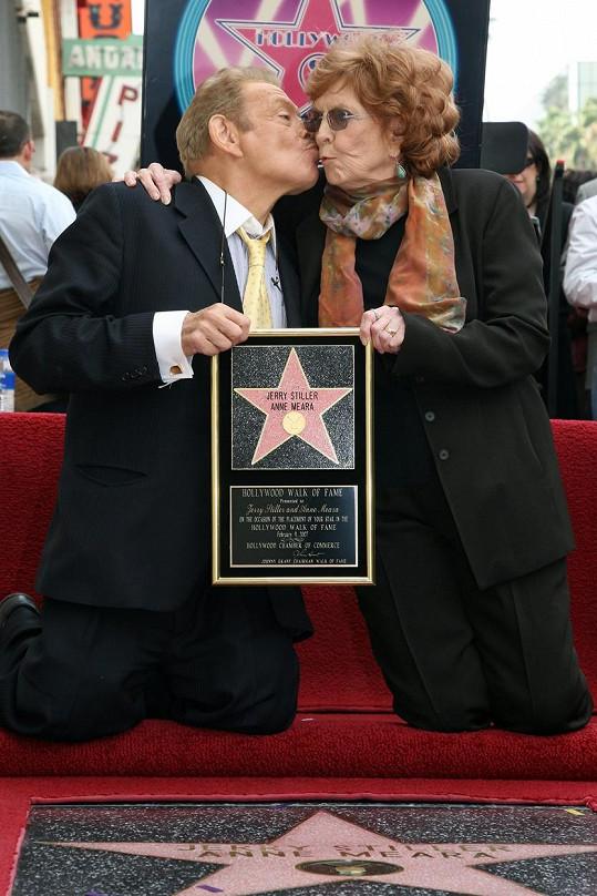 Anne Meara a Jerry Stiller se dočkali hvězdy na hollywoodském chodníku slávy.