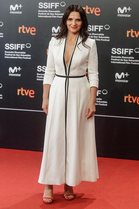 Juliette Binoche na 66. ročníku filmového festivalu v San Sebastianu