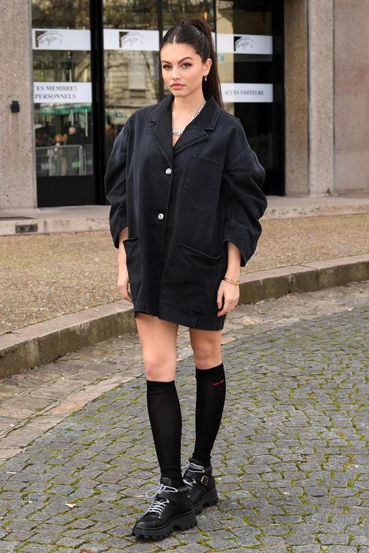 Thylane Blondeau dorazila do Paříže na týden módy.