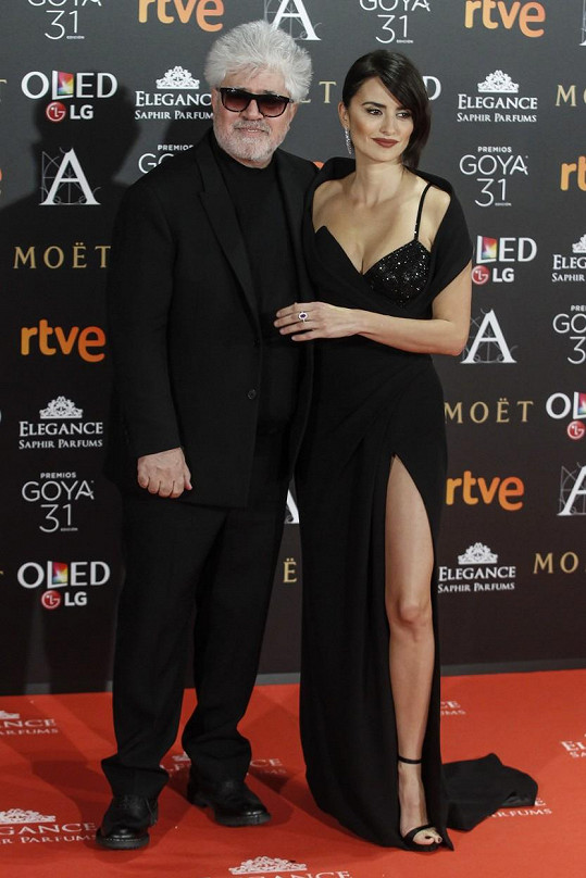 Penélope Cruz s režisérem Pedrem Almodóvarem