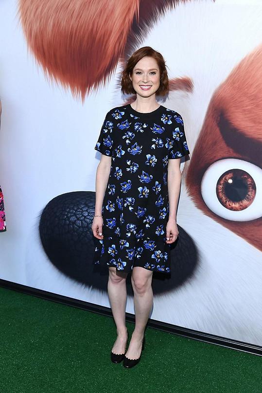 Ellie Kemper na premiéře filmu Tajný život mazlíčků