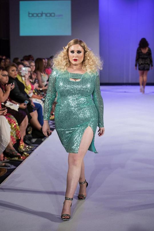 Hayley jako hvězda Plus-Size týdne módy v Londýně