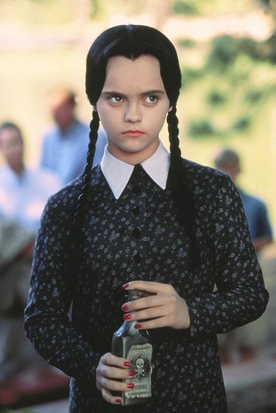 Christina proslula jako Wednesday z Addamsovy rodiny.
