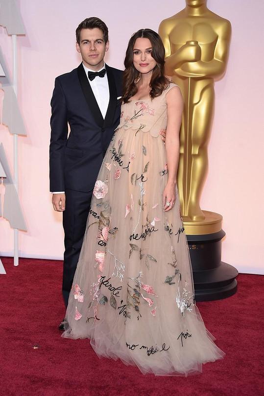 Keira s manželem na letošním udílení Oscarů