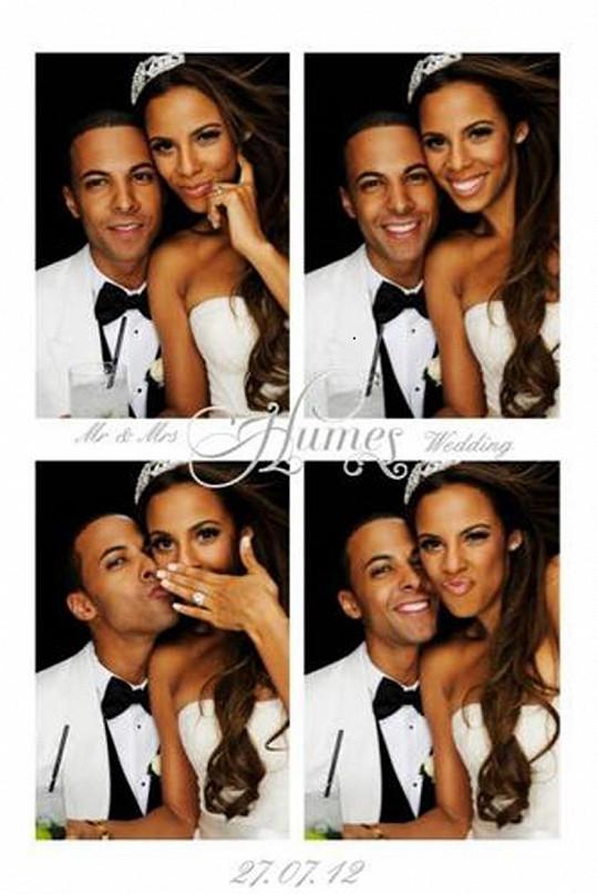 Rochelle Humes na svatebních fotografiích s manželem Marvinem Humesem