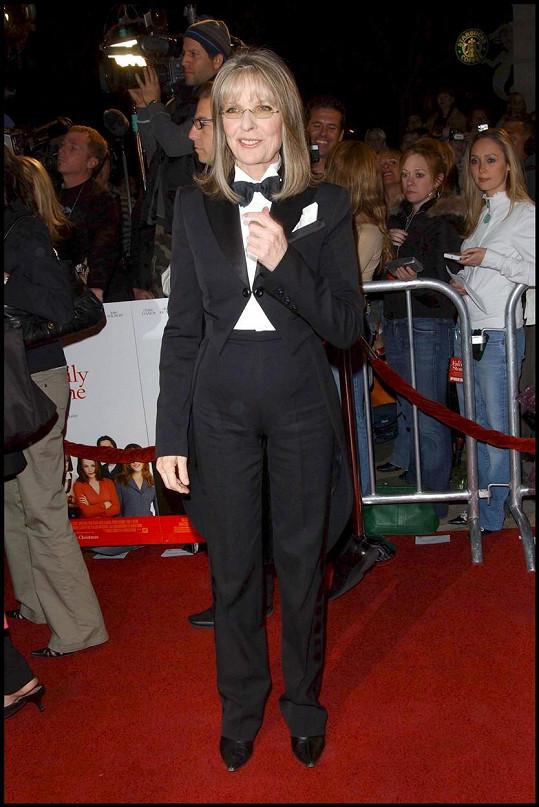 Diane Keaton má velmi specifický styl oblékání.