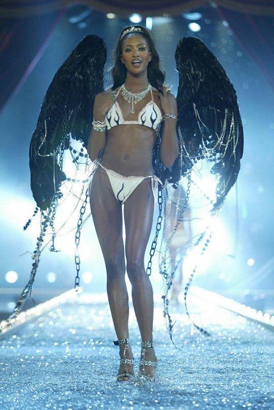 V roce 2003 se prošla i po mole Victoria´s Secret s křídly na zádech.