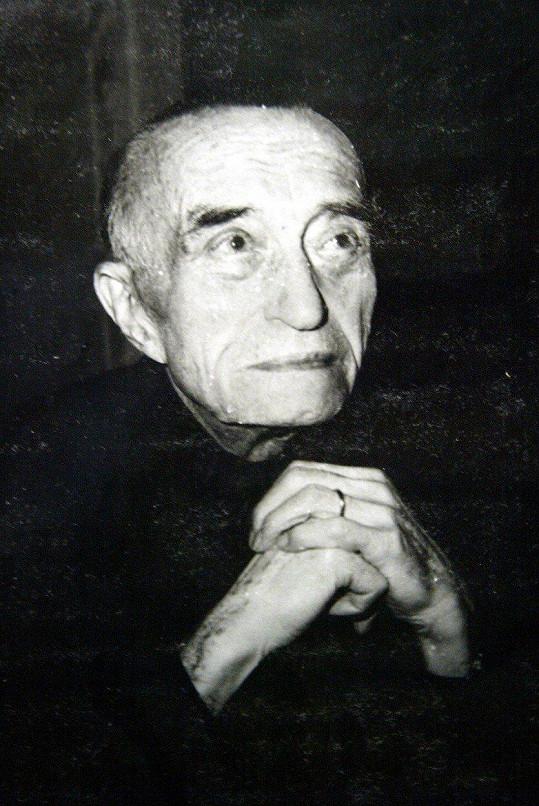 Oldřich Nový na samém konci svého života.