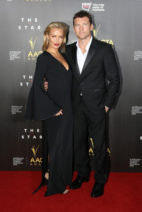Sam Worthington se svou krásnou manželkou