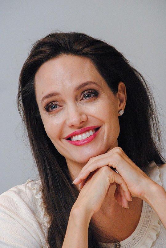 Angelina Jolie měla tiskovku v Los Angeles.