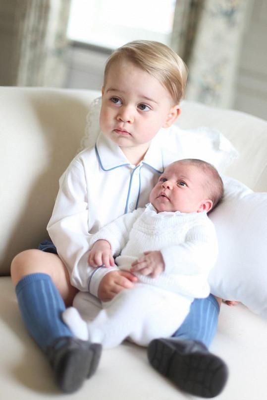 Budoucí následník trůnu a princezna Charlotte
