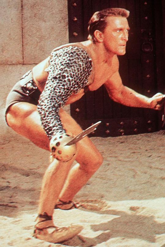 Nejslavnější roli Kirk Douglas ztvárnil ve filmu Spartakus (1960).