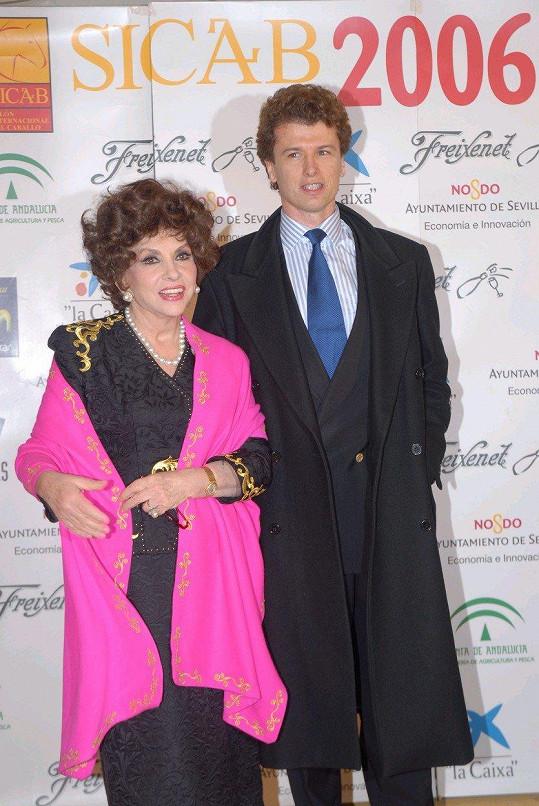 Gina Lollobrigida a Javier Rigau v roce 2006